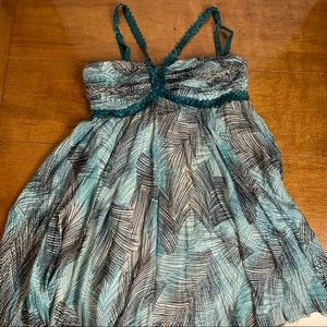 Party dress mini 80% silk adjustable straps size M